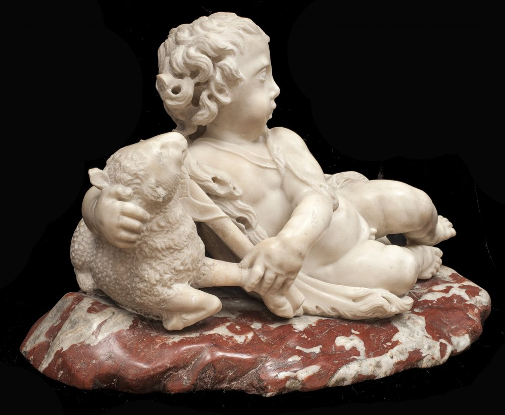 Attributed to Giusto le Court, The Infant St. John the Baptist with a Lamb - View from the Left