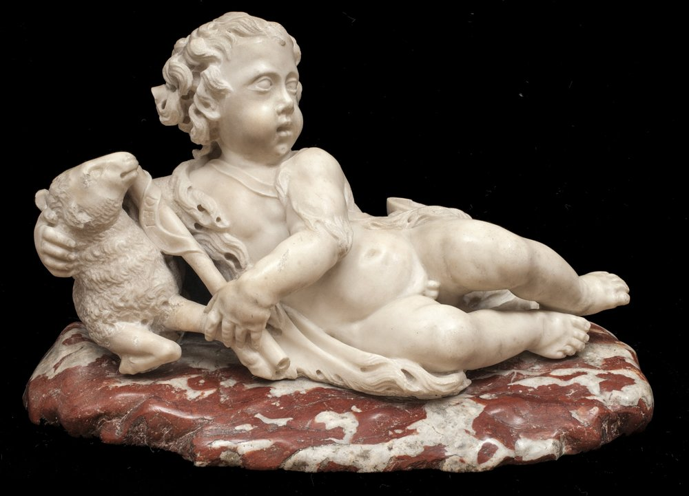 Attributed to Giusto le Court, The Infant St. John the Baptist with a Lamb - View from the Front
