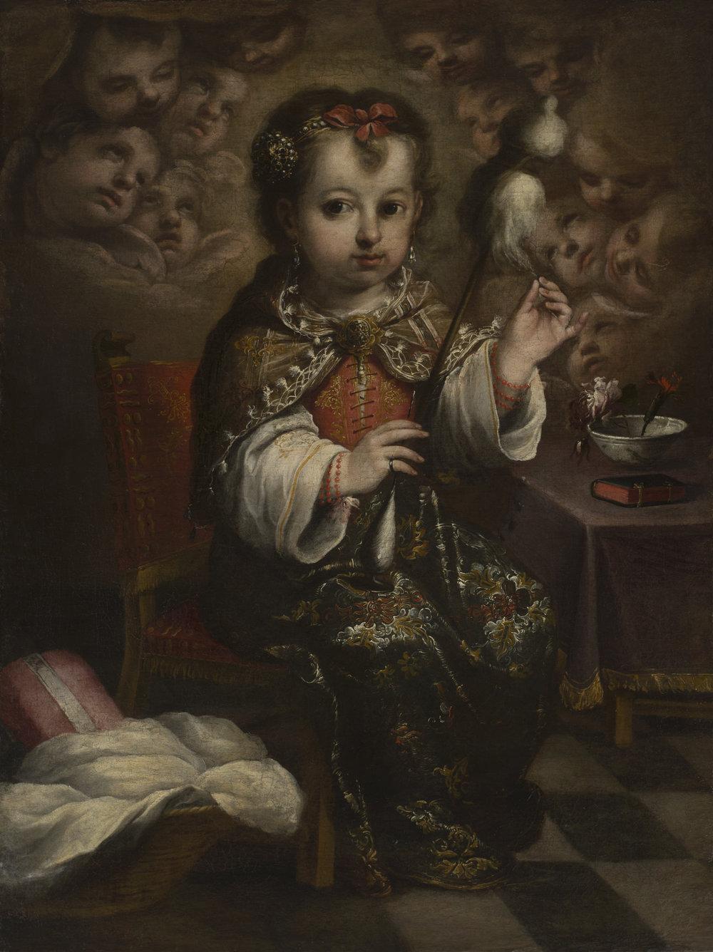 Juan Simón Gutiérrez,  The Child Virgin Spinning