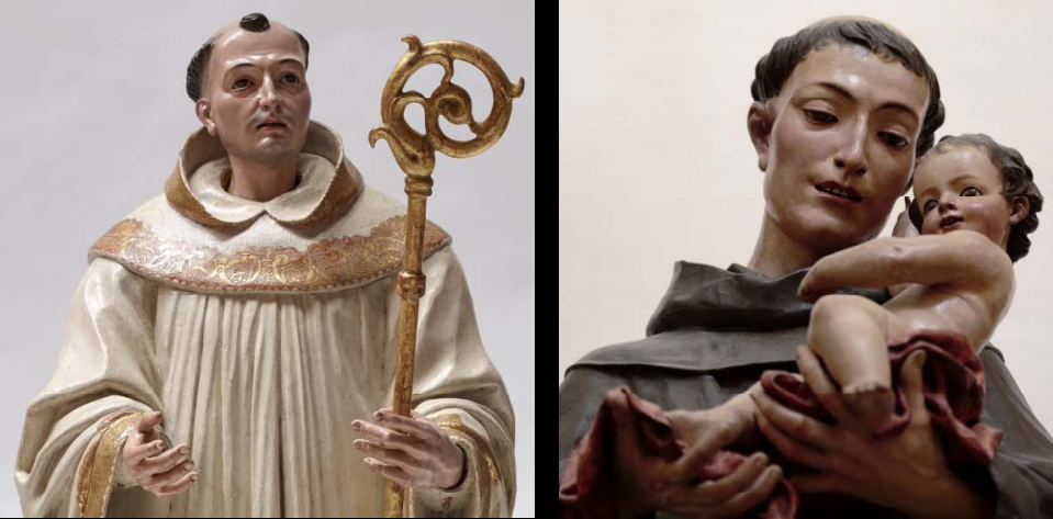 Fig. 2B Comparison of the present work and José de Mora, Saint Anthony, from the capilla del Cardenal Salazar, Catedral de Córdoba