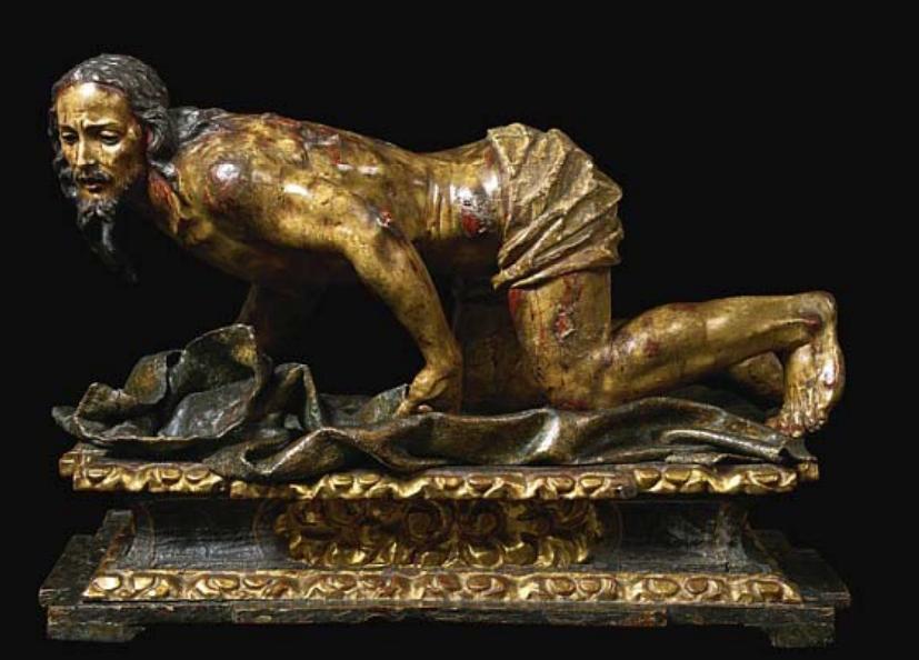 Fig. 10. José y Diego de Mora, Cristo recogiendo las vestiduras, Colección particular