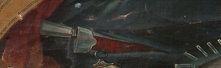 Detail of knife in Cabrera painting