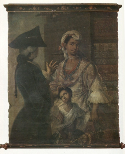Cabrera, From Spaniard and Indian, Mestiza (no. 1), as sold in 1980 (now Private Collection)