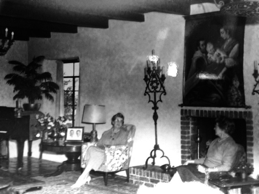 """La Casita,"" Sonoma, 1950s - The painting hanging over the fireplace"