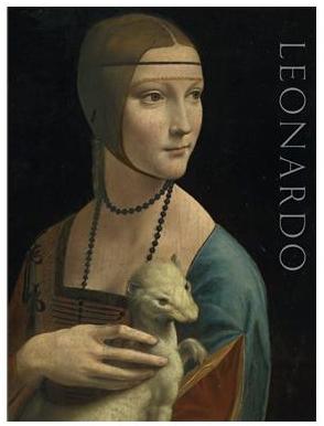 Leonardo da Vinci's Lady with an Ermine and text spelling Leonardo