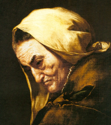 Detail of Ribera: Old Userer (Madrid, Prado)