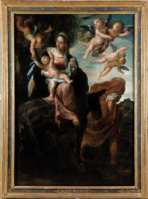 Robert Simon Fine Art is pleased to announce its recent sale of an altarpiece by Ippolito Scarsella, called Scarsellino: The Rest on the Flight into Egypt -