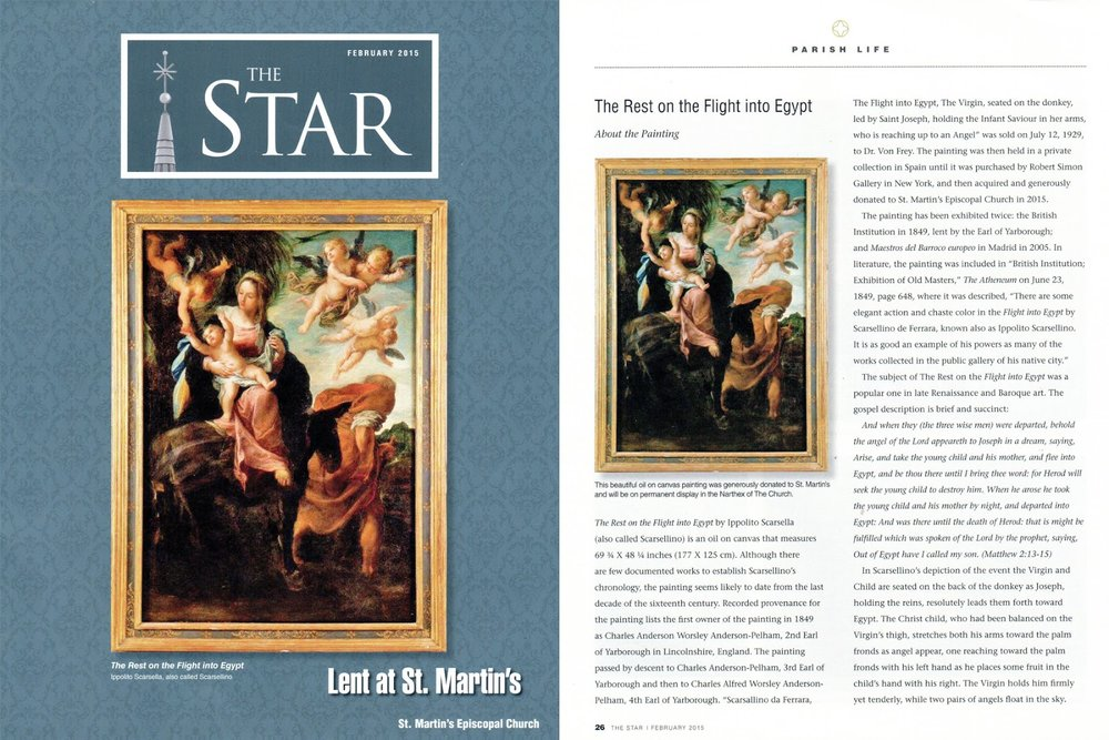 Above: The painting on the cover of  The Star , St. Martin's Parish Magazine