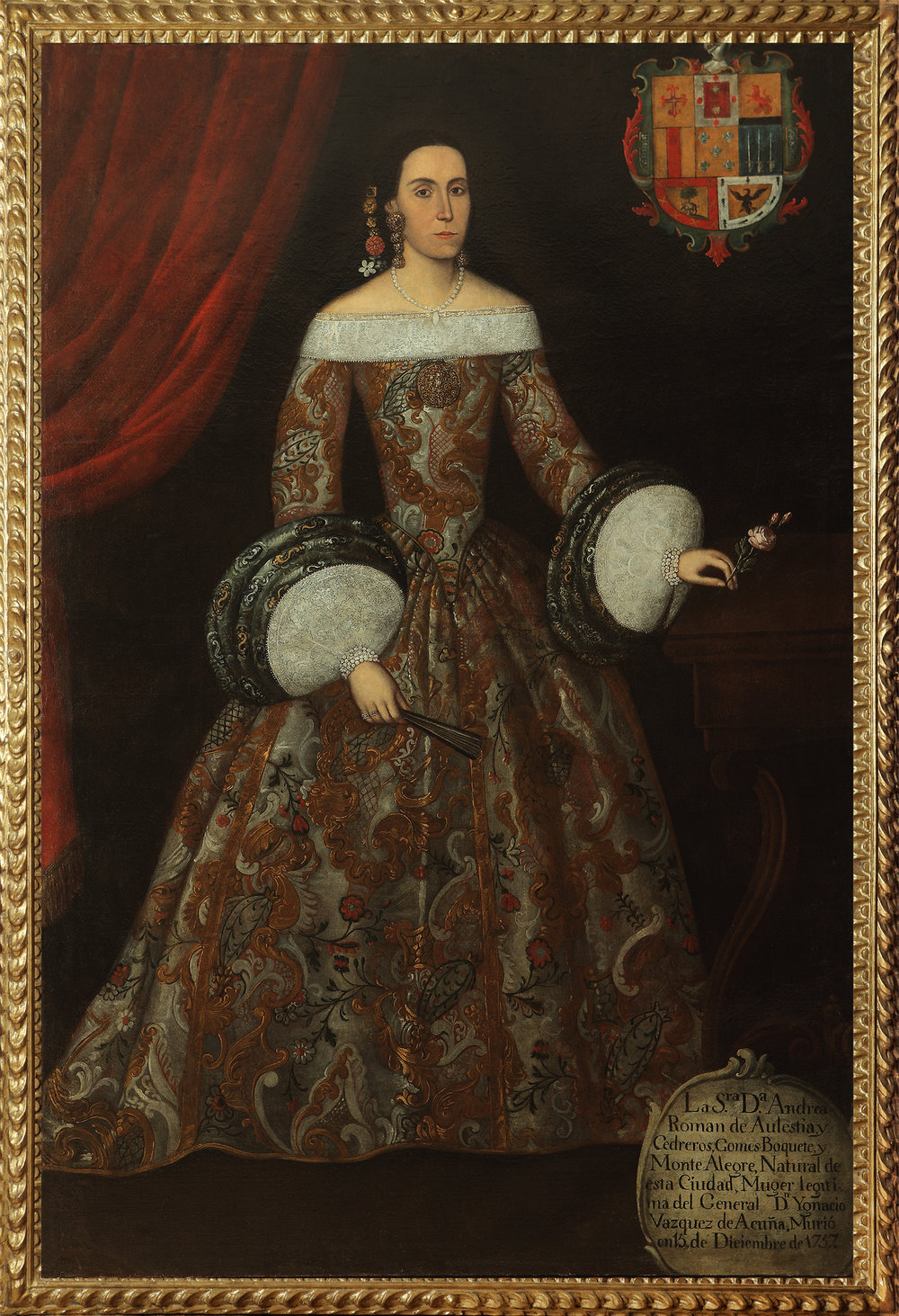 Robert Simon Fine Art is pleased to announce its recent sale of a Spanish Colonial work from the Eighteenth Century:The Portrait of Dona Andrea Roman de Aulestia y Cedreros -