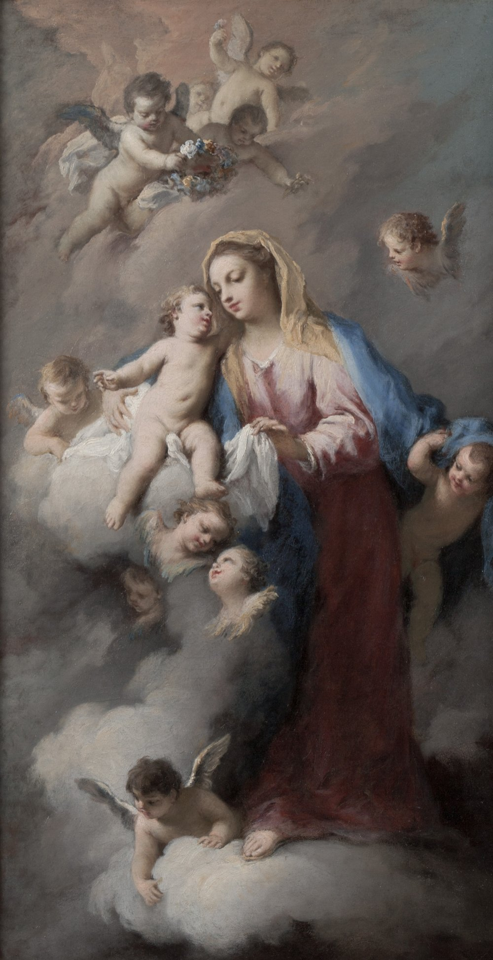 Jacopo   Amigoni   Madonna and Child in the Clouds