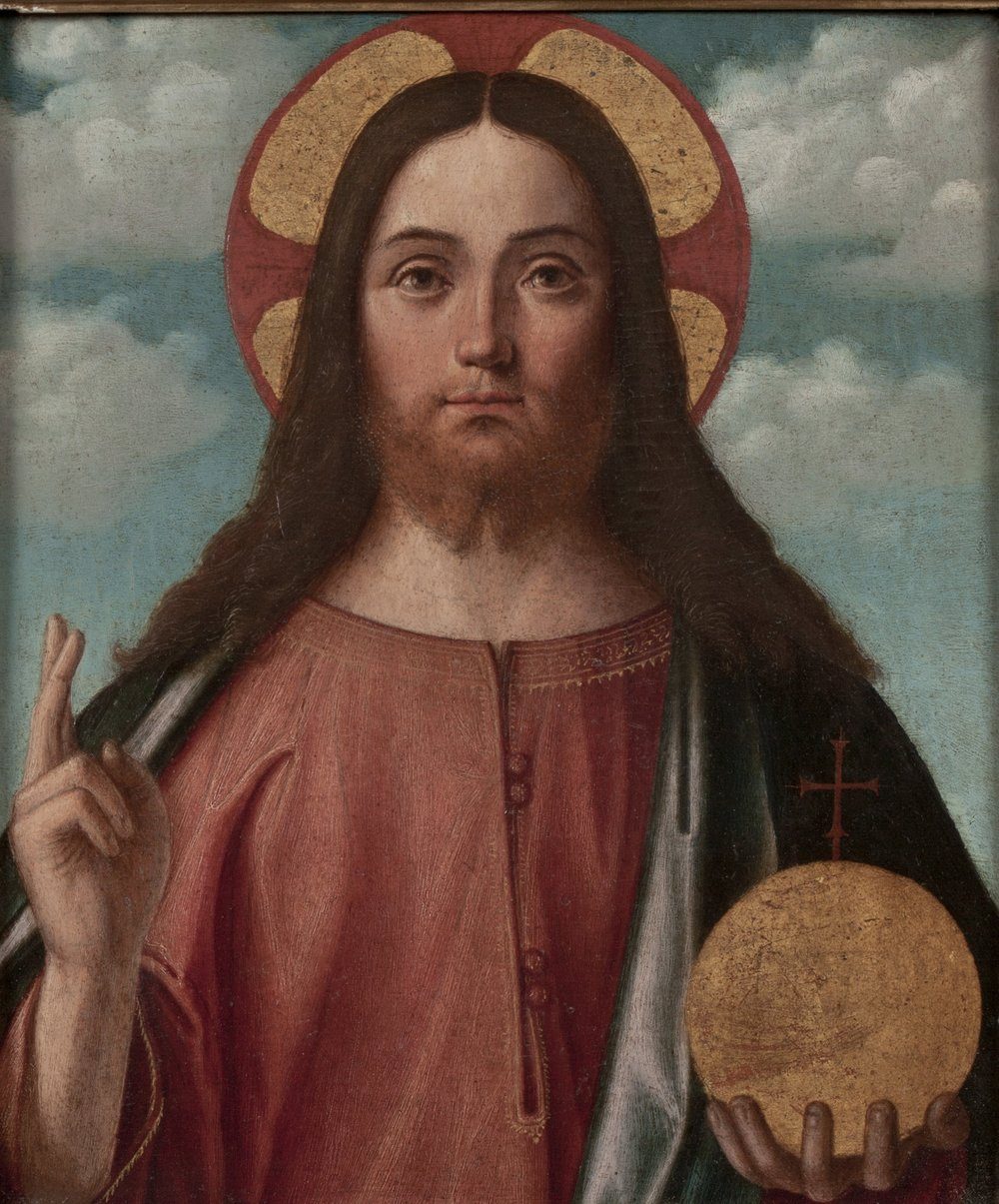Vittore   Carpaccio   Christ Blessing (Christ as Salvator Mundi)