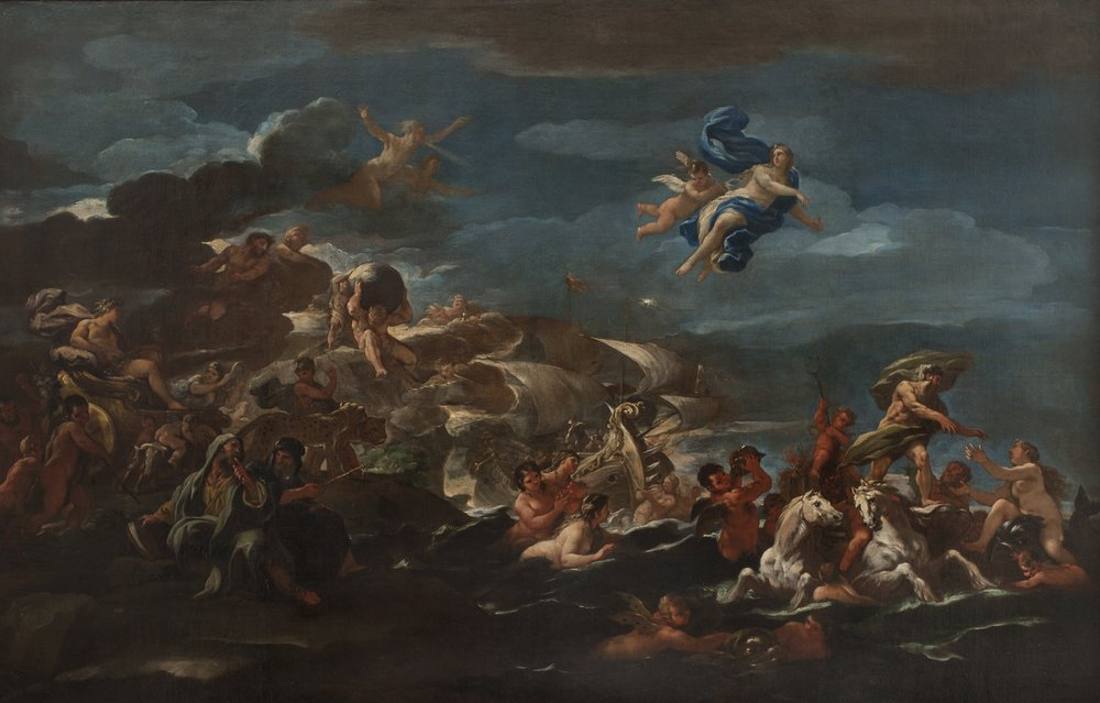Luca   Giordano   Allegory of Human Progress   (The Triumph of Bacchus and the Triumph of Neptune and Amphitrite)