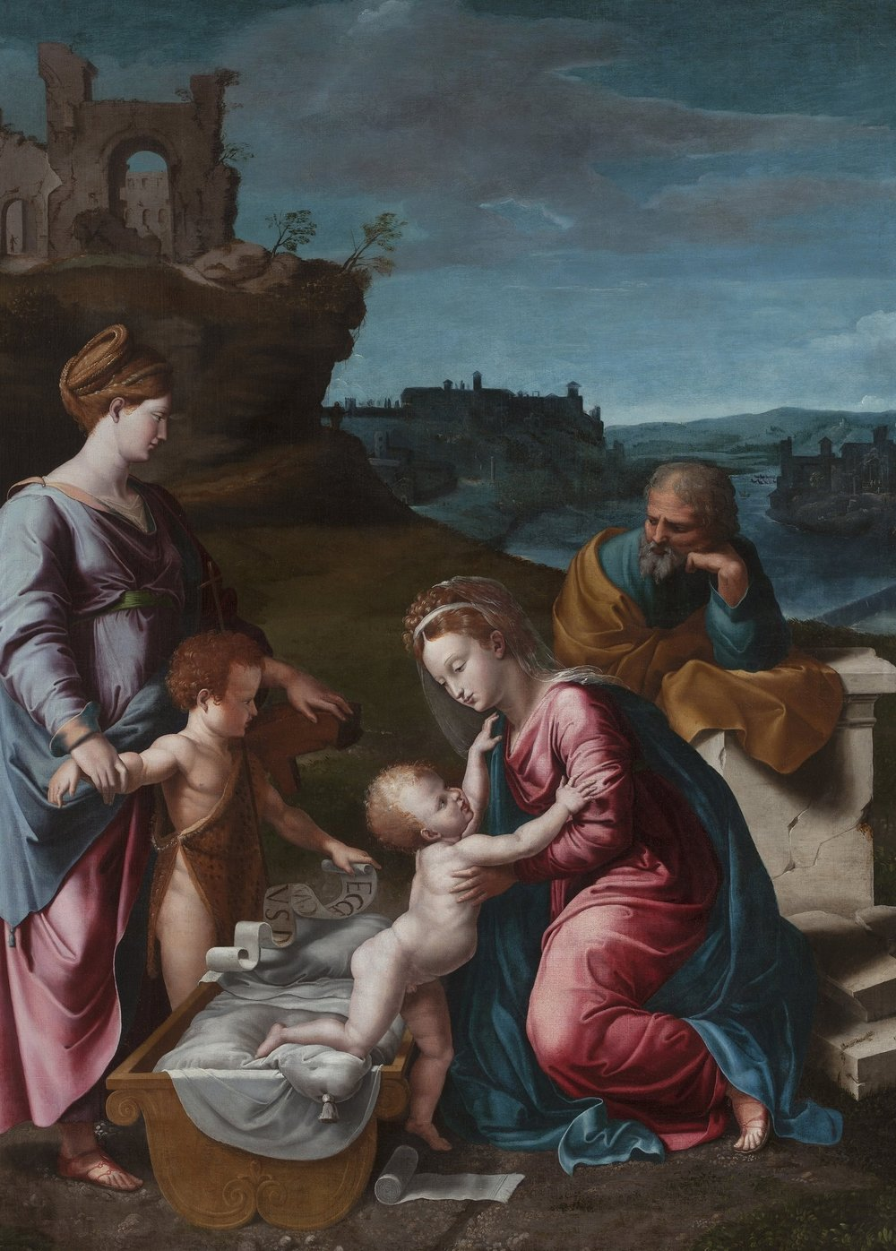 Giovanni Francesco Penni   Holy Family with St. Catherine of Alexandria and Young St. John the Baptist