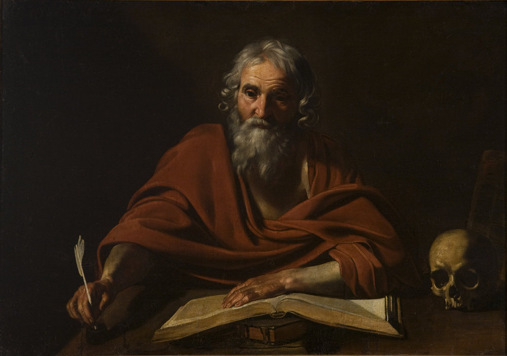 Nicolas   Tournier   Saint Jerome Writing