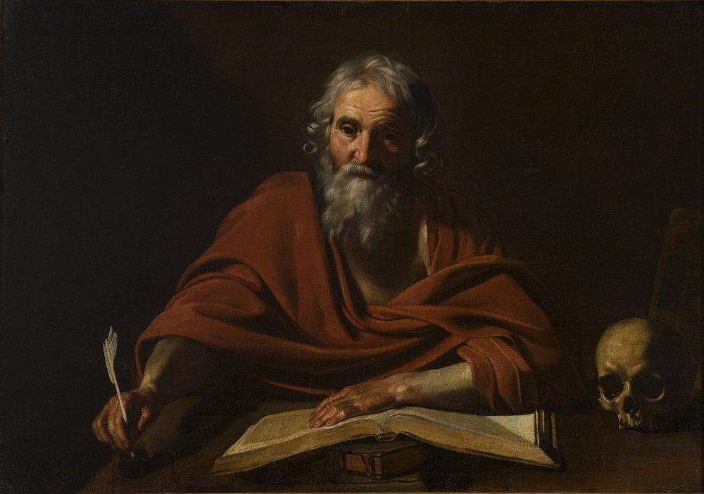 Nicolas   Tournier   Saint Jerome Writing