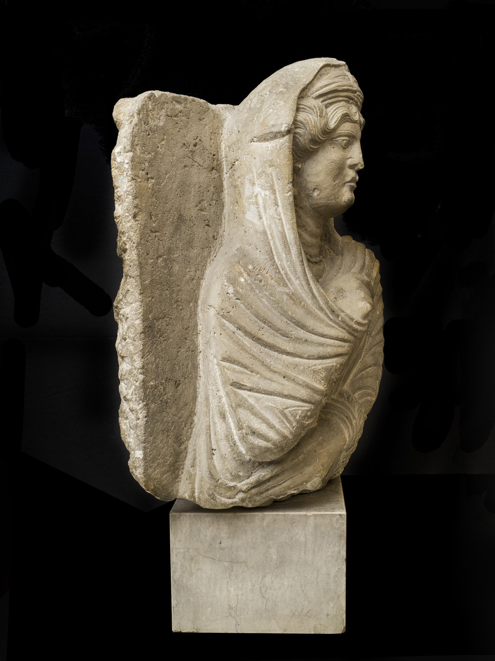 A Palmyrene Stele of a Woman - View from the Left