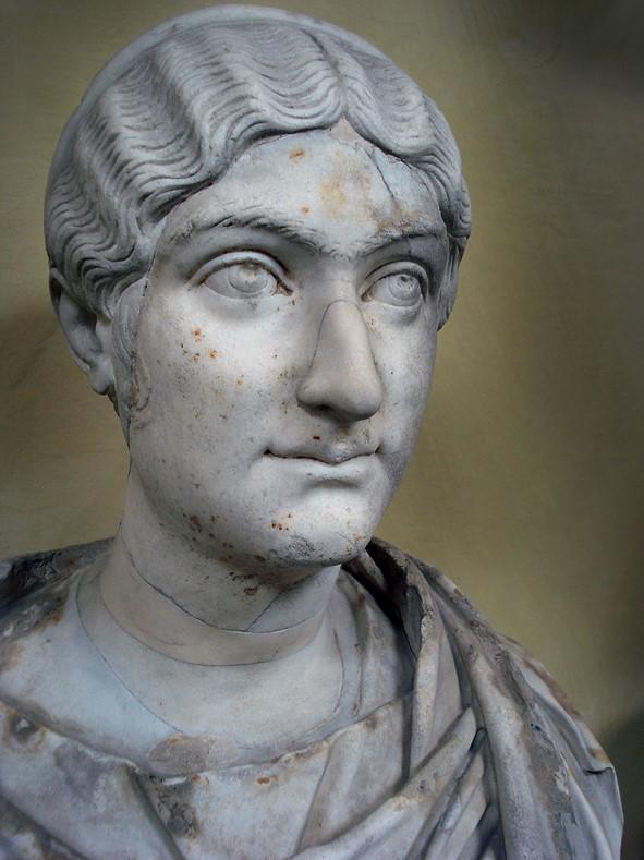 Portrait of Furia Sabinia Tranquillina, wife of Gordian III,mid 3rd c AD. Rome, Museo Chiaramonti 241. Photo: Tetraktys, Wikipedia.