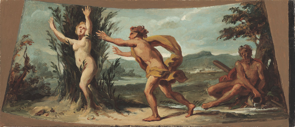 Circle of Jacopo Guarana, Apollo Chasing Daphne as She Turns to a Laurel Tree