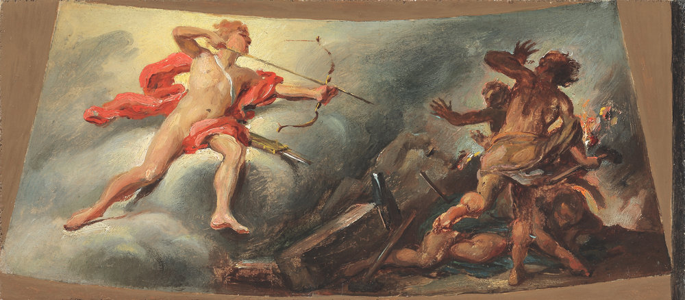 Circle of Jacopo Guarana, Apollo Killing the Sons of Niobe