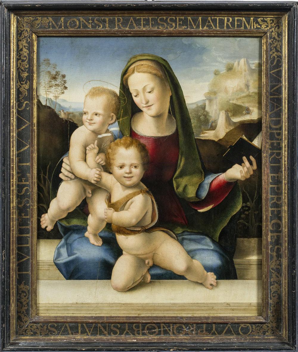 Domenico Beccafumi,  Madonna and Child with St. John the Baptist