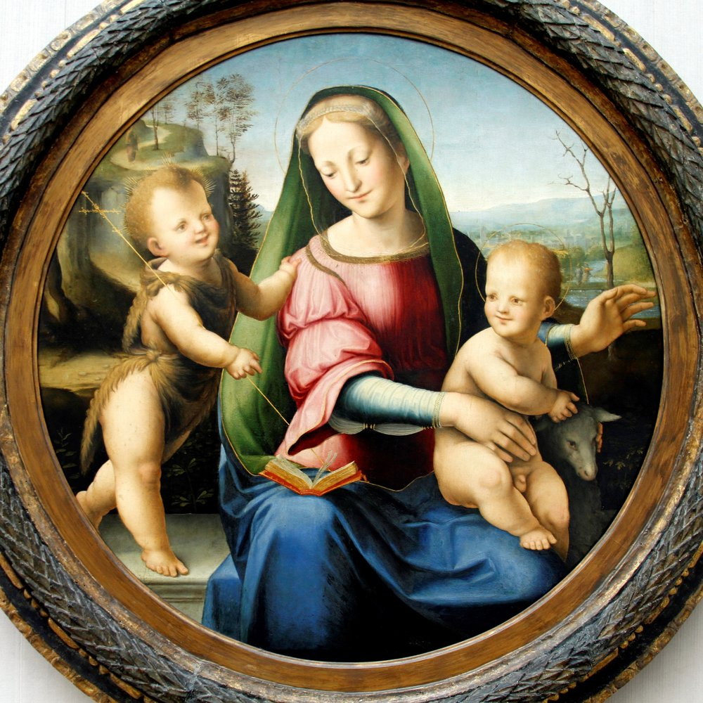 Domenico Beccafumi:  Madonna and Child with St. John  (Berlin Gemäldegalerie)