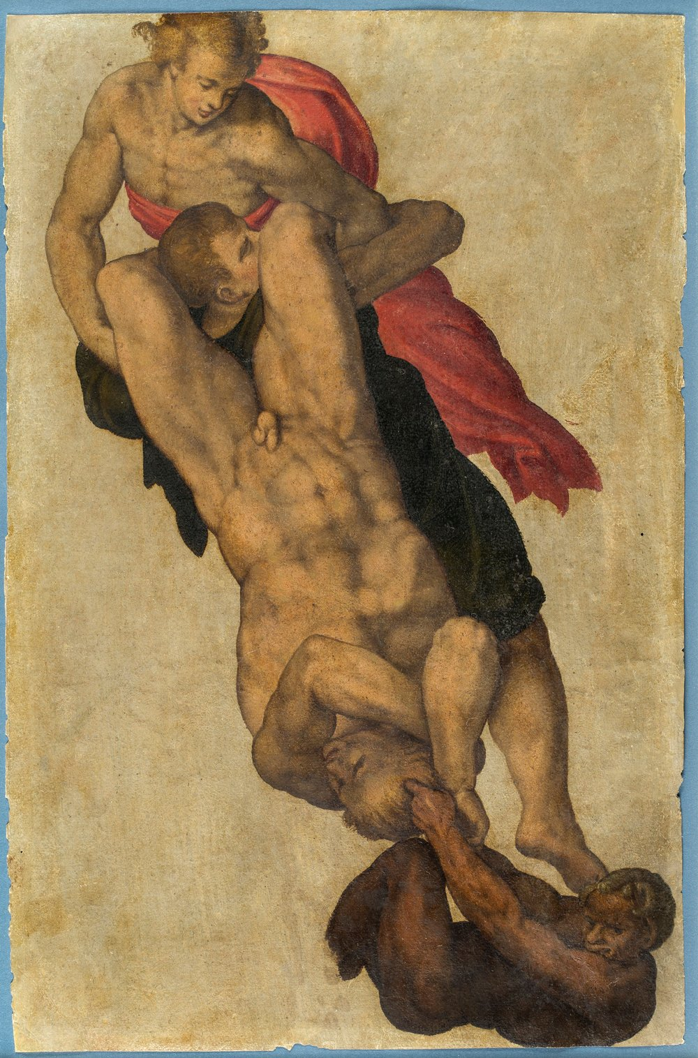 "Anonymous Sixteenth-Century Italian Artist,  Study after Michelangelo's ""The Last Judgment"""