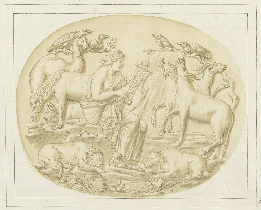 Fig. 3.   Early seventeenth-century Italian Artist,  Orpheus and the Animals , Royal Collection, Windsor.