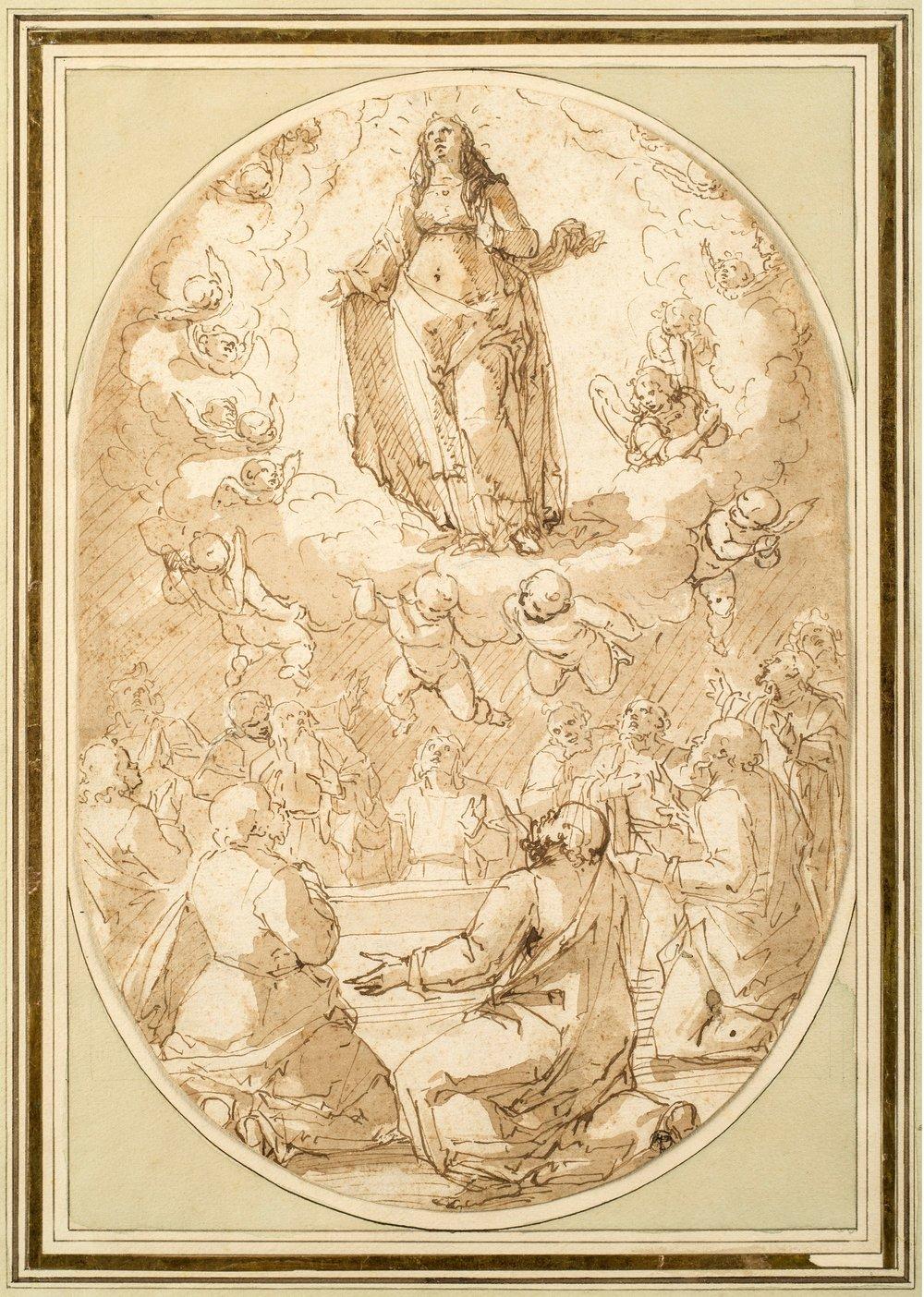 Giovanni Battista Paggi,  The Assumption of the Virgin