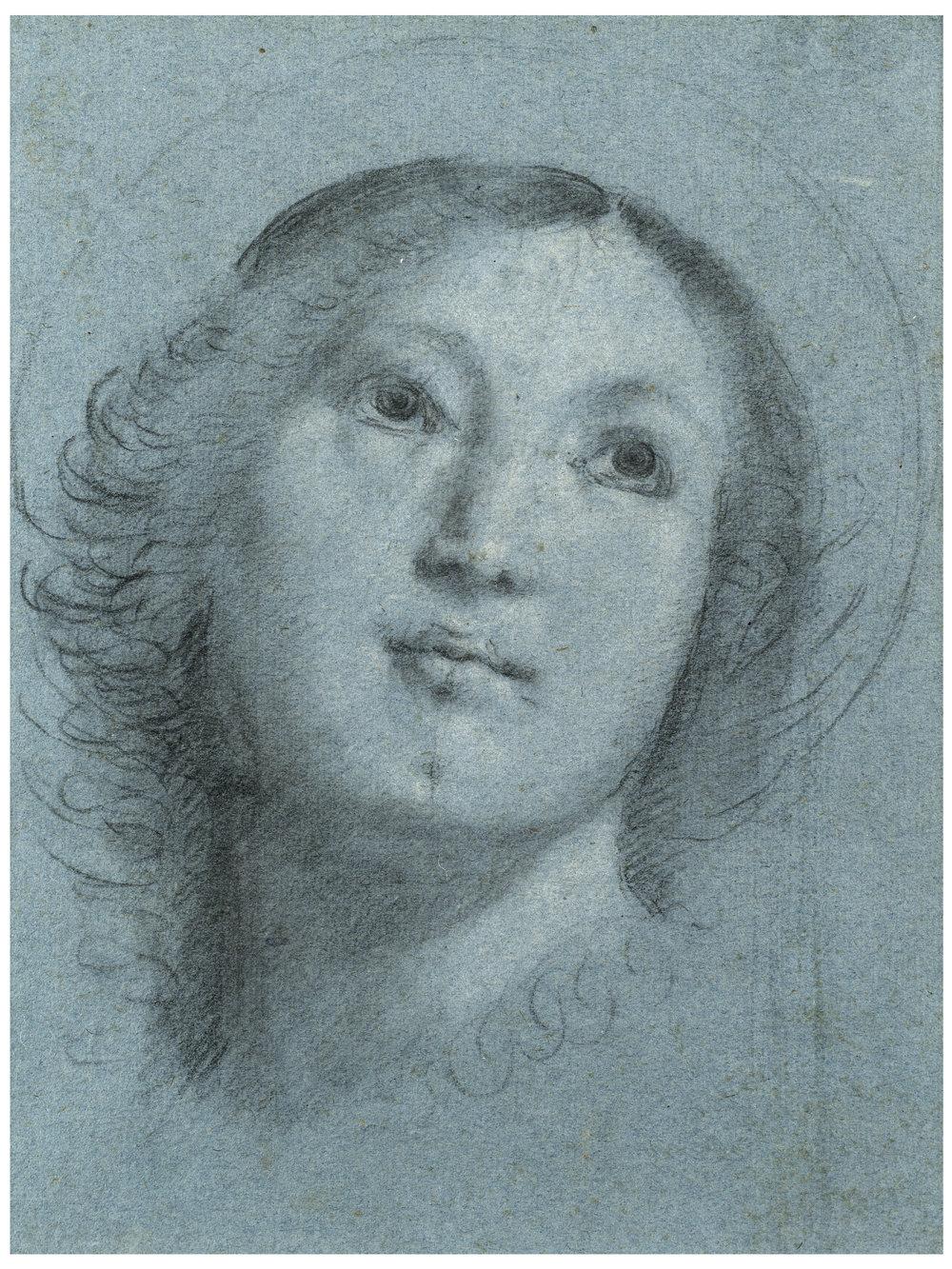 Bernardino Lanino,  Head of a Female Saint