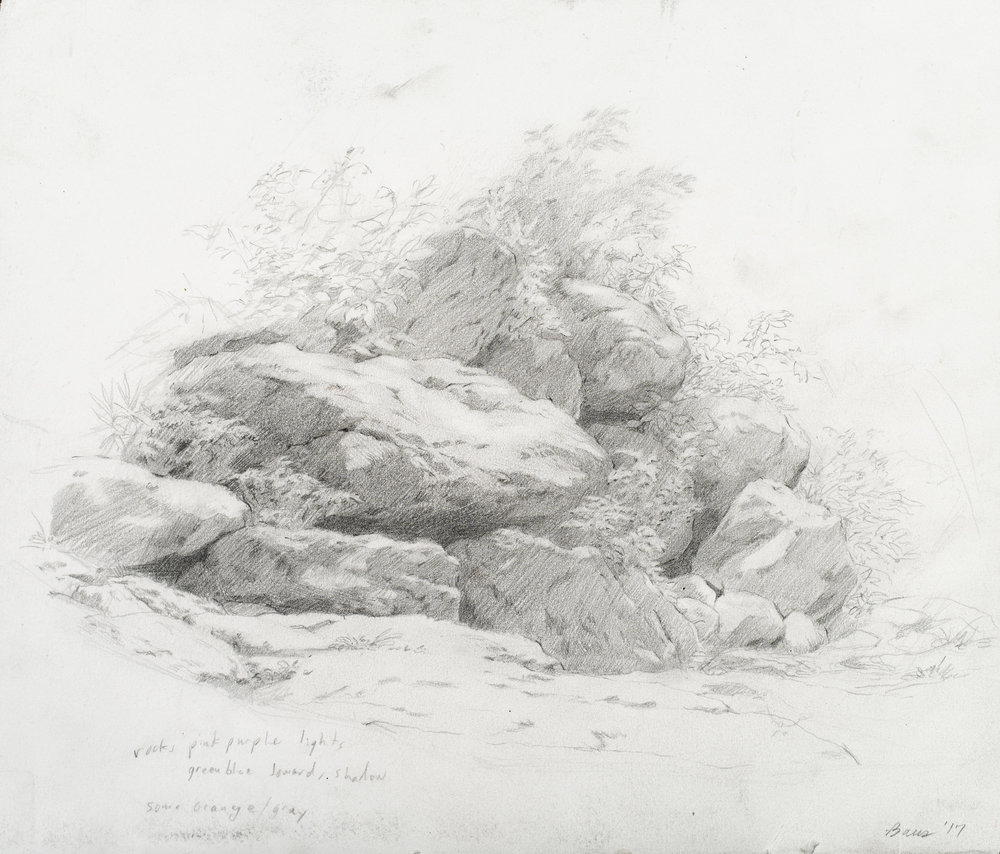 Study of Rocks, Central Park, 2017