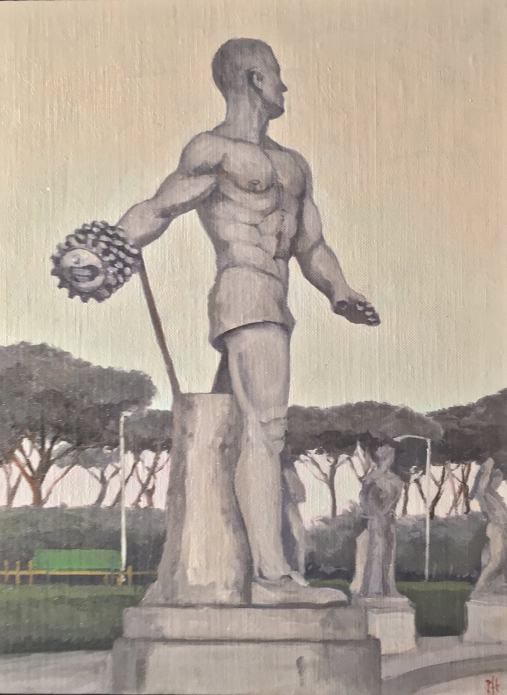 Marble Athlete with Broken Fingers