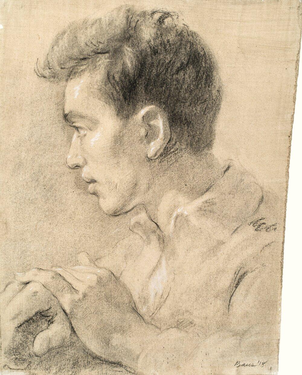 Portrait of a Boy in Profile, 2018