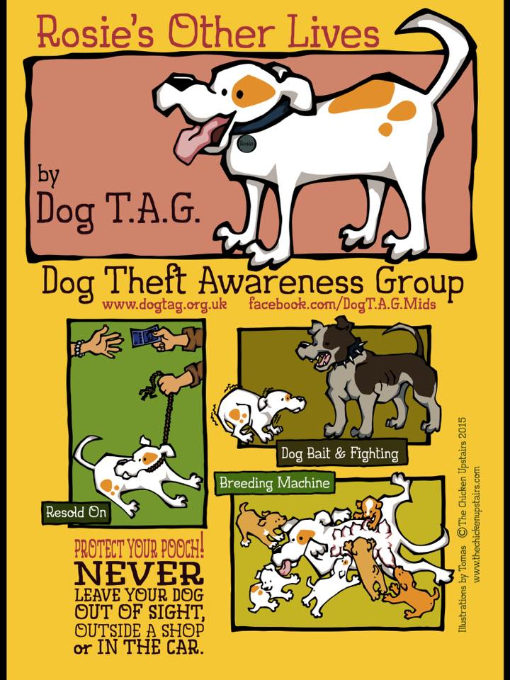 Designed and illustrated exclusively for Dog TAG by Tomas © The Chicken Upstairs