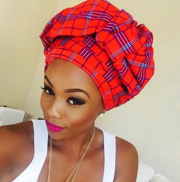 The history of the headwrap kungara store bonang matheba wears a maasai shuka styled as a southern african doeknbsp ccuart Image collections
