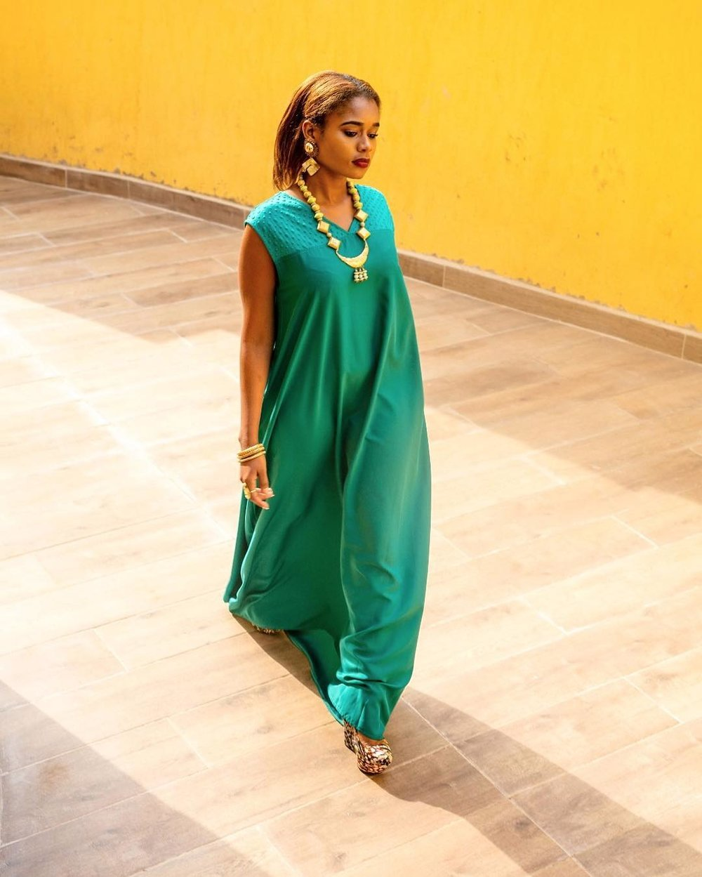 Nicole Bryant wears Kwesh Kaftan from the  Kung'ara Store.  Photography by  Tatiana Karanja