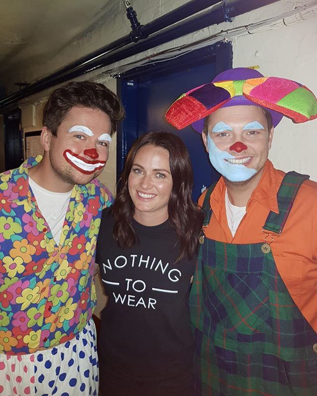 Great fun filming on location at the #blackpooltowercircus for #samandmarksbigfridaywindup with the lovely @nickimakemeup turning @samnixon18 @markrhodestv @laurenlayfield and @joetracini1 into clowns for the day! 🤡🤡🤡🤡 Don't think Nicky and I could have laughed anymore that day!  Catch the episode on @bbciplayer now!