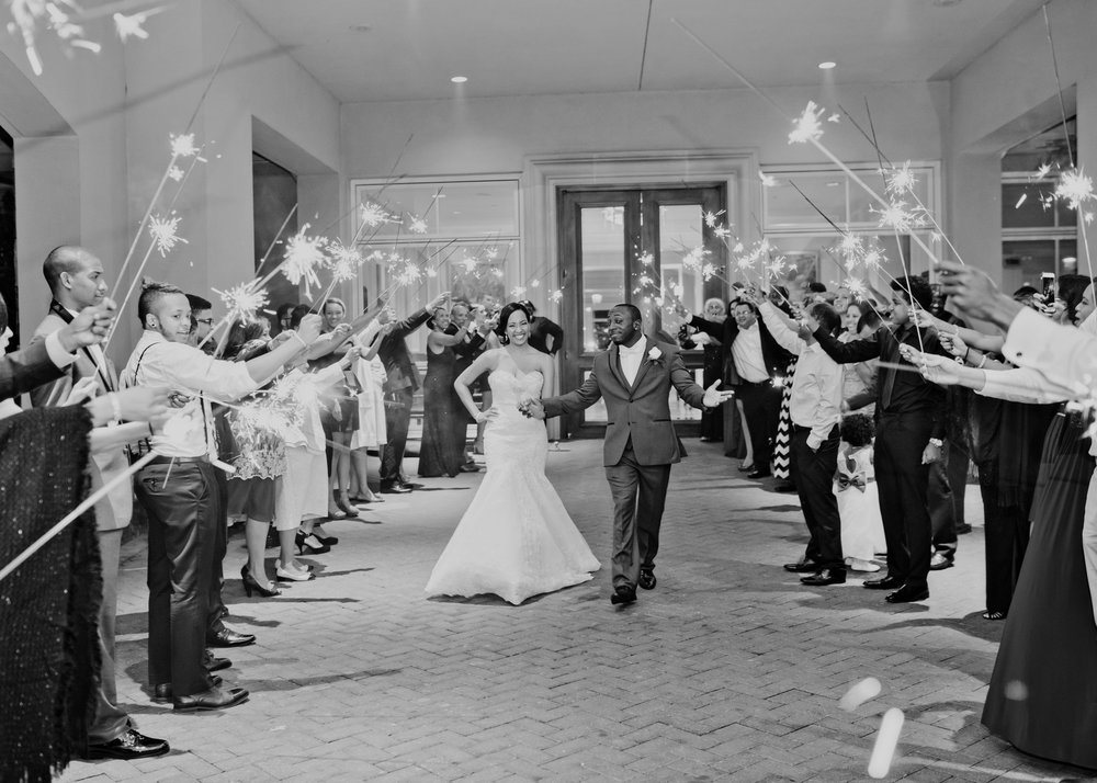 Photo by  Just A Dream Photography  |Sparklers by  Sparklers R Us