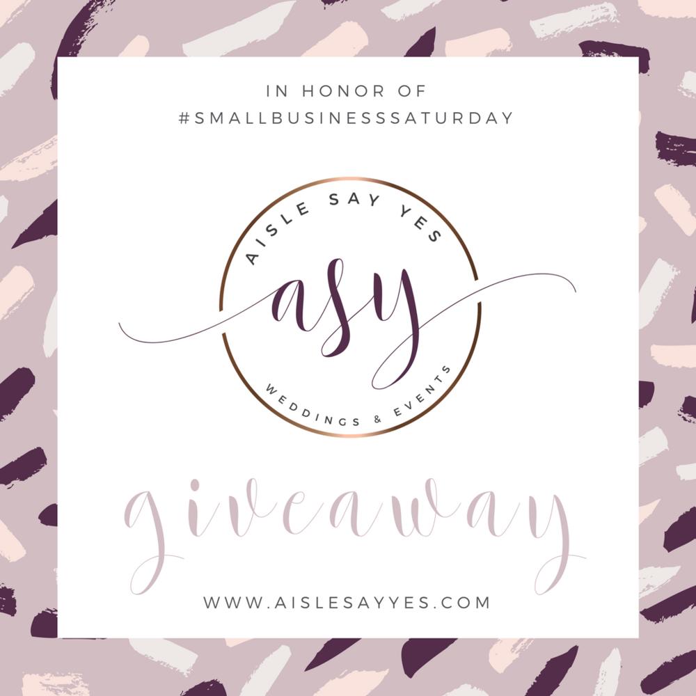 SmallBusinessSaturday-Giveaway-AisleSayYes