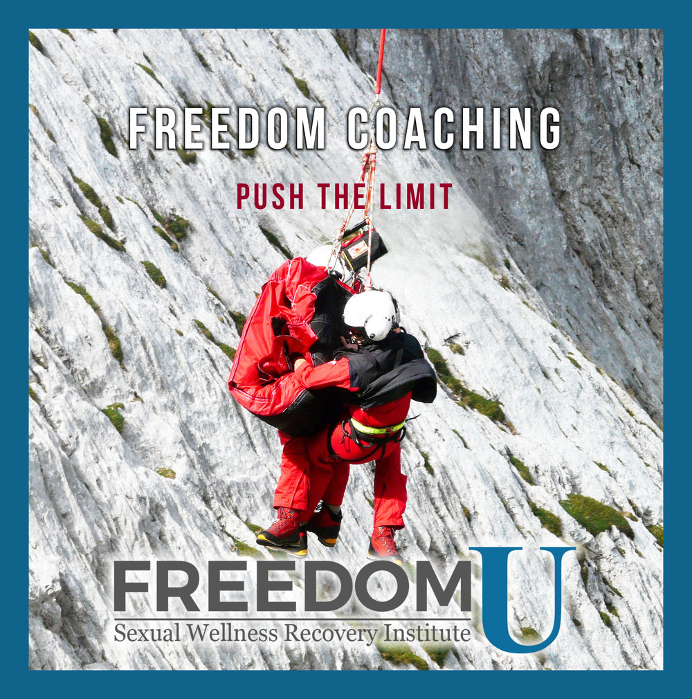 Our certified coaches specialize in assisting each client  journey into freedom and wellbeing, providing insights and strategies to help them successfully work through the curriculum, and incorporate the principles and plans into their daily lives and relationships. Freedom U Sexual Wellness Recovery Institute.  www.freedomu.net