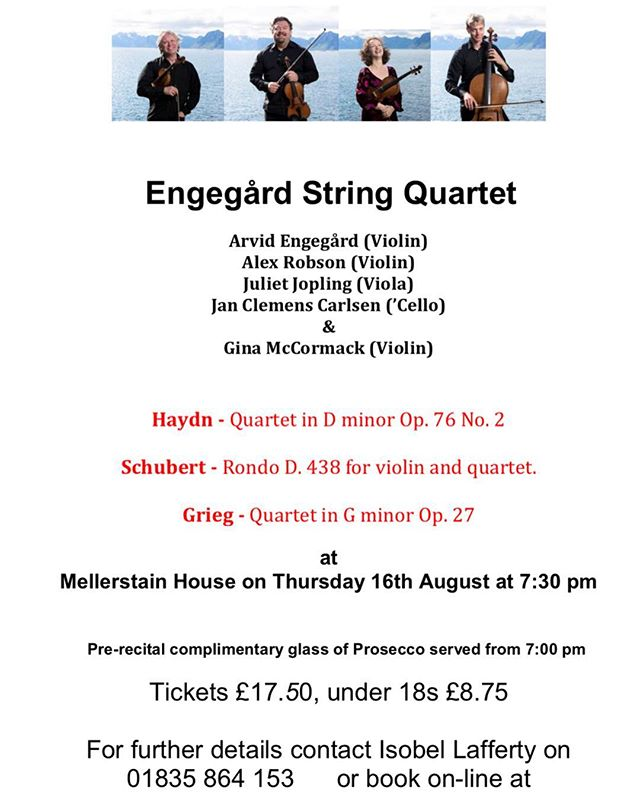 Excited for our next recital... join us on the 16th August and book your tickets on line www.bordersmusicandartssociety.co.uk  #recital #violin #violinist #cello #viola #quartet #musicroom #music #hayden #schubert #grieg #classical #classicalmusic