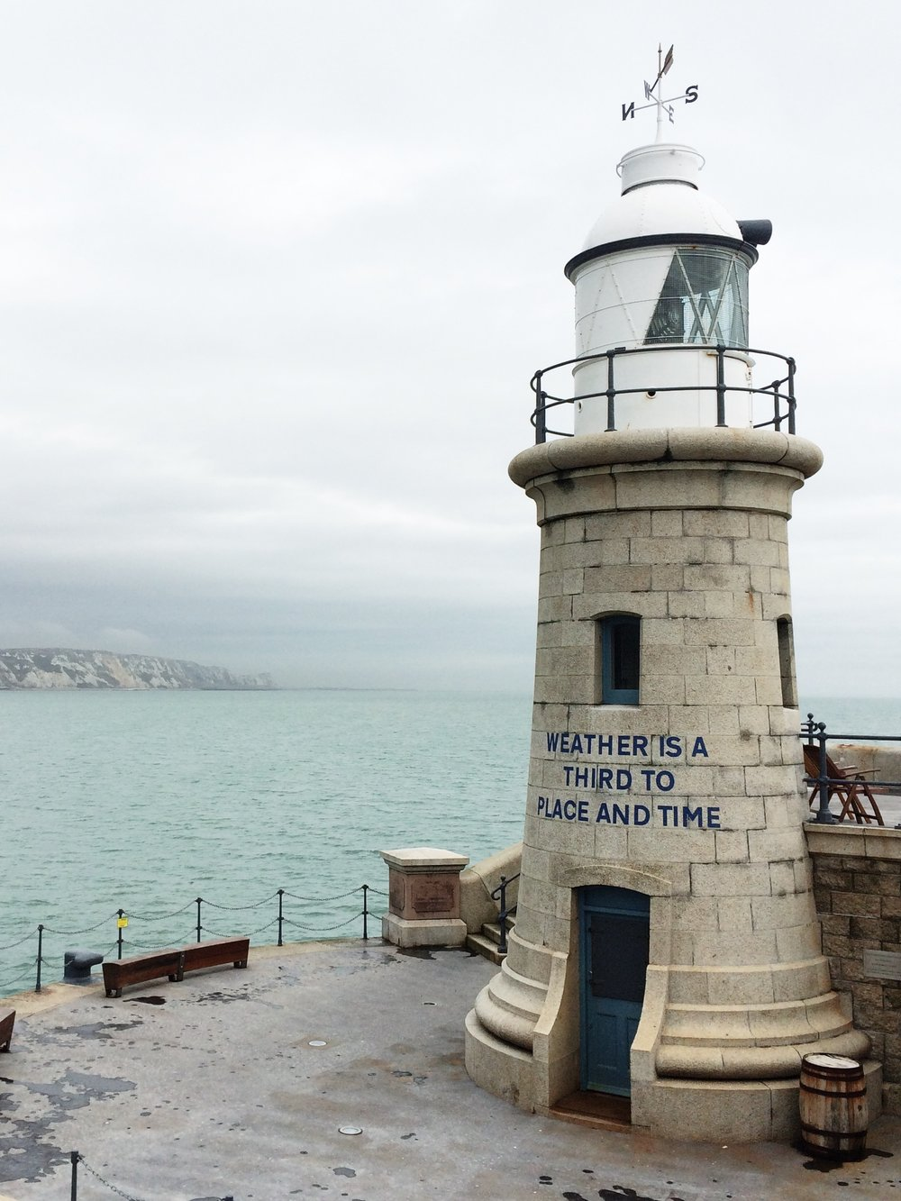 The lighthouse on the Harbour Arm by Small Acorns.JPG