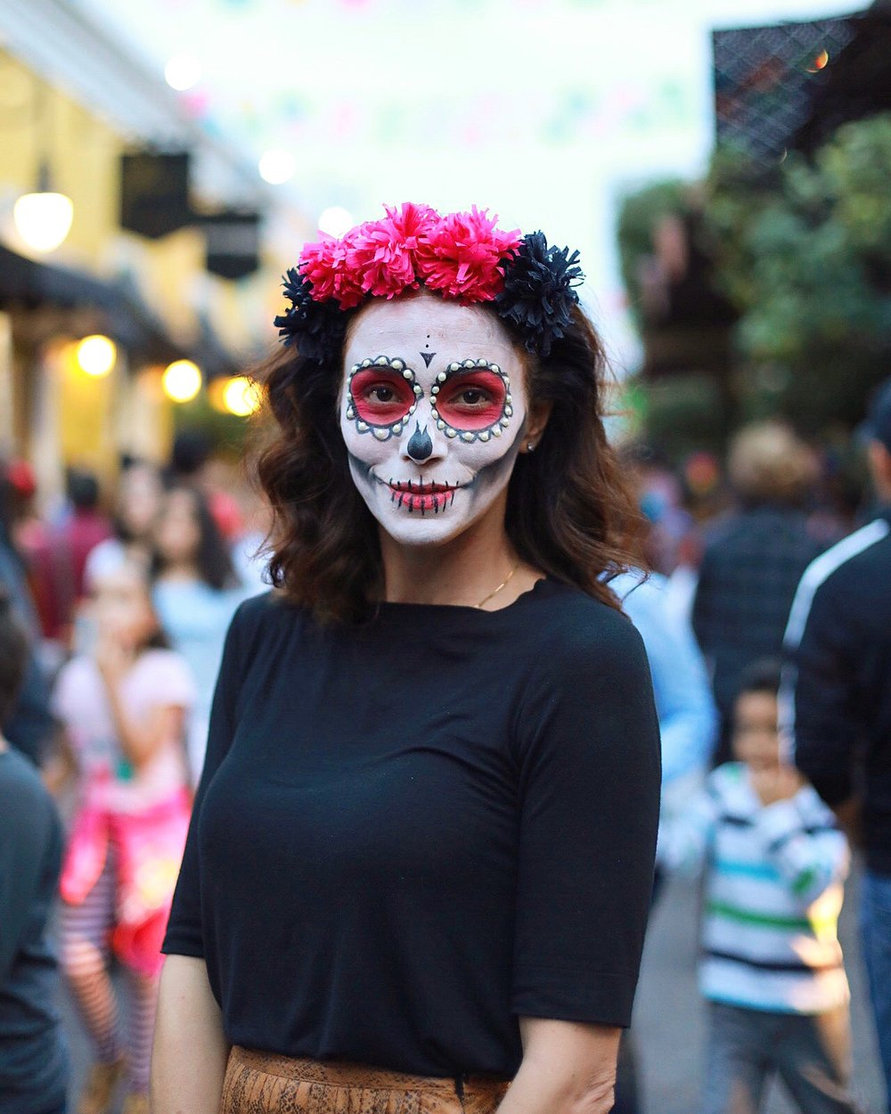 Day Of The Dead Face Painting.JPG