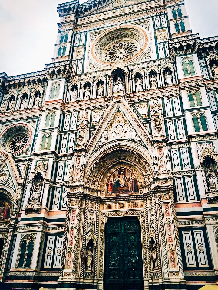 Duomo di Firenze- The main church in Florance. It was begun in 1296. Gothic style architecture.