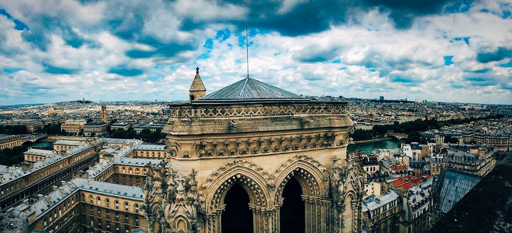 Rooftop views from Notre Dame