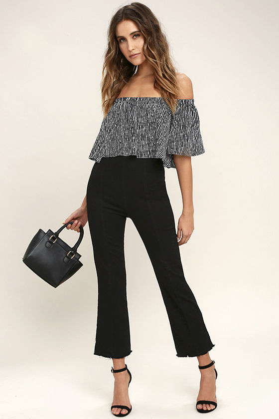 Chick Black Cropped Jeans