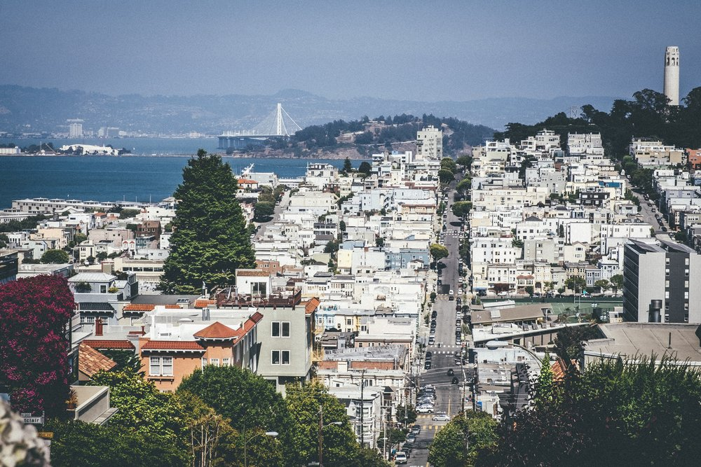 Overlook from Lombard Street