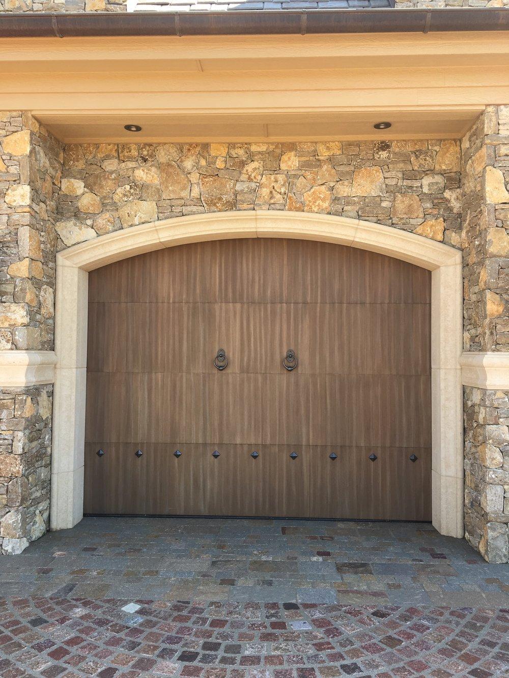 Custom Wood Overlays Trotter Garage Home