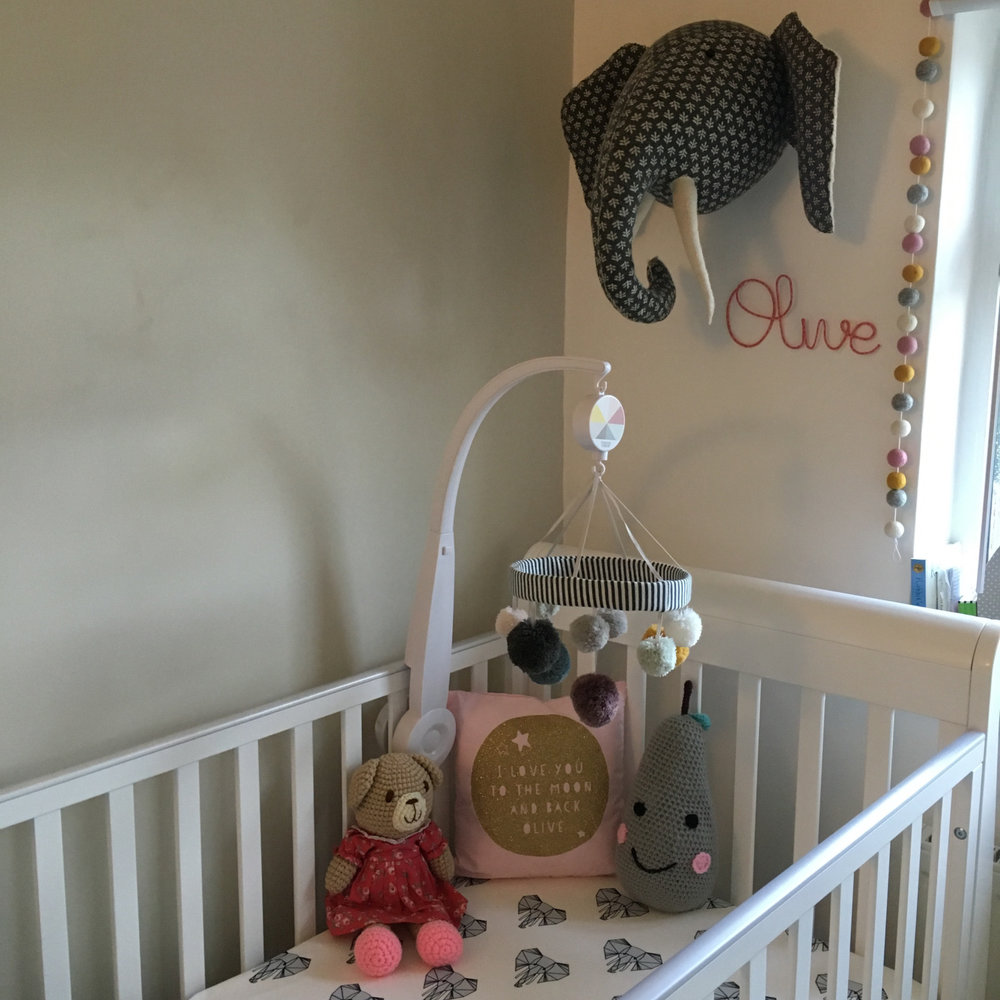 personalised cushion and wire name from little cloud