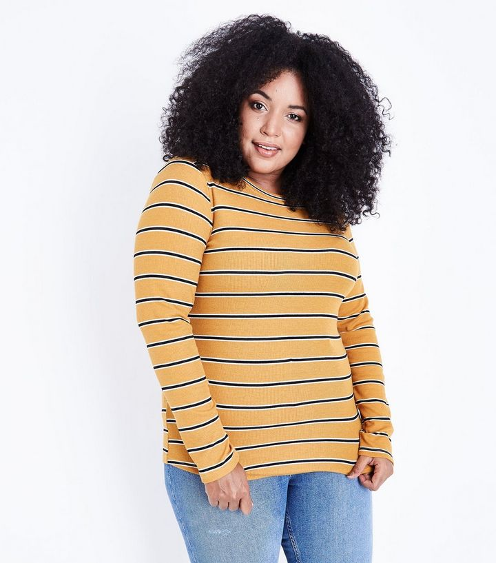 curves-mustard-yellow-stripe-t-shirt.jpg
