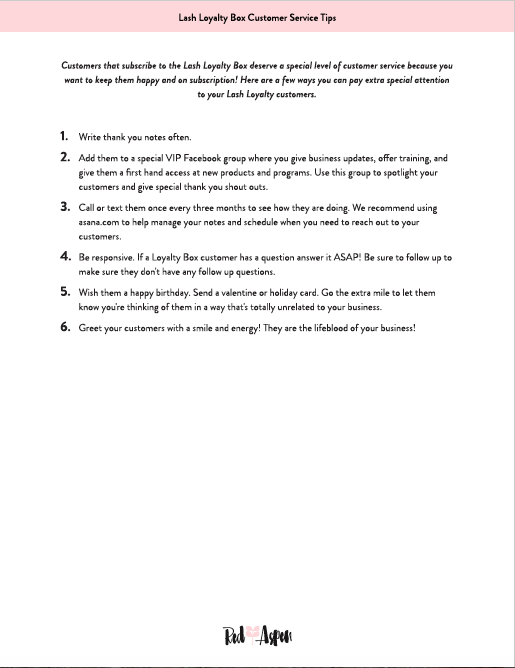 Lash Loyalty Customer Service Tips -